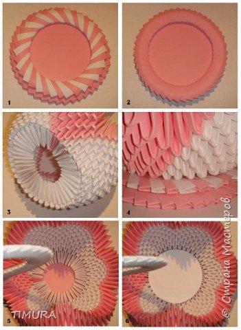 Оригами модульное: Лебедь (как закрыть дыру в основании лебедя) фото 2