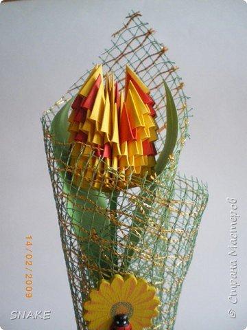 Оригами модульное: И еще тюльпанчик фото 1