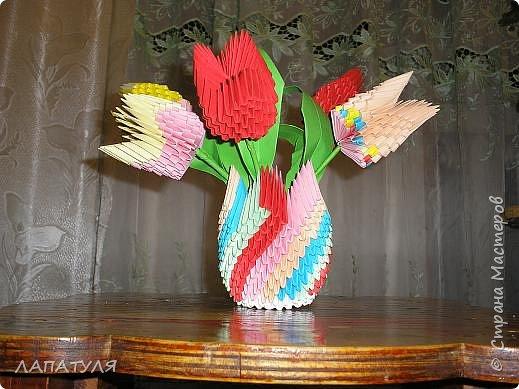 Оригами модульное: Мои тюльпаны
