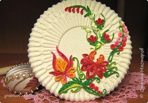 Квиллинг: Декоративная тарелка