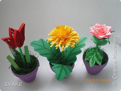 Квиллинг: Цветики-цветочки фото 1