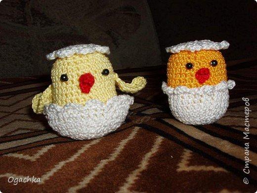 Вязание крючком: Цыплятки