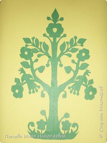 Вытынанка: Весеннее дерево