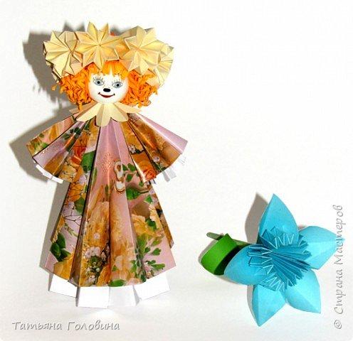 """Оригами модульное: красавица """"Весна"""""""