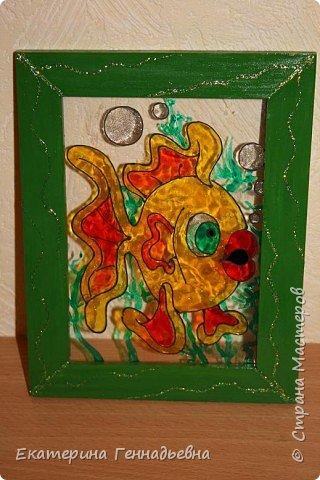 Витраж: Золотая рыбка