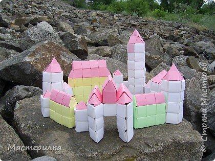 Оригами модульное: Замок фото 2