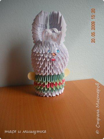 Оригами модульное: заюшка