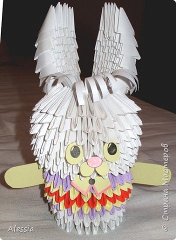 Оригами модульное: Теперь уж и мой зайчик
