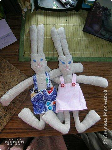 Игрушка мягкая: Парочка зайцев