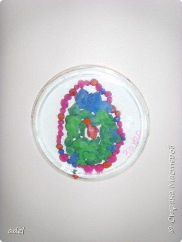 Аппликация из пластилина (+ обратная): Расписные Яички из пластилина фото 9