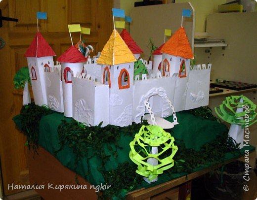 """Бумагопластика: Художественное конструирование из бумаги. Коллективная работа """"Средневековый замок"""" 4 класс. фото 1"""