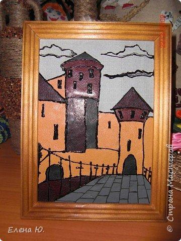 Аппликация: Старинный замок.