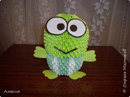Оригами модульное: жаба