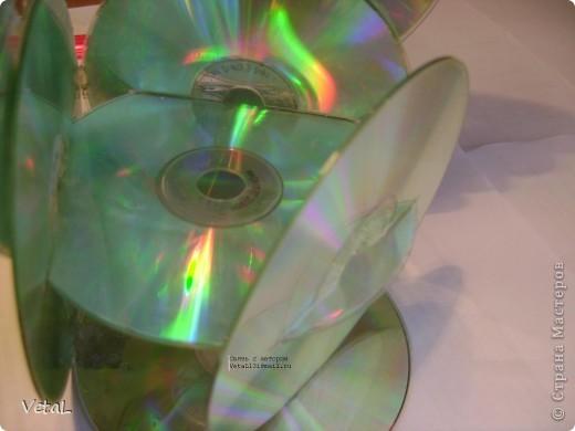 Этажерка для мелочей из СD и DVD дисков