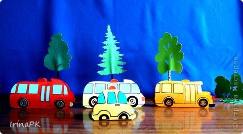 Такие автобусы и машинки собираемся делать с детьми. Их можно использовать как коробочки (положить что-нибудь внутрь), а можно просто играть, изучать правила дорожного движения. фото 1