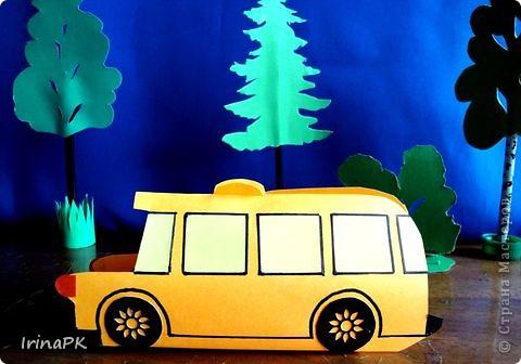Такие автобусы и машинки собираемся делать с детьми. Их можно использовать как коробочки (положить что-нибудь внутрь), а можно просто играть, изучать правила дорожного движения. фото 2