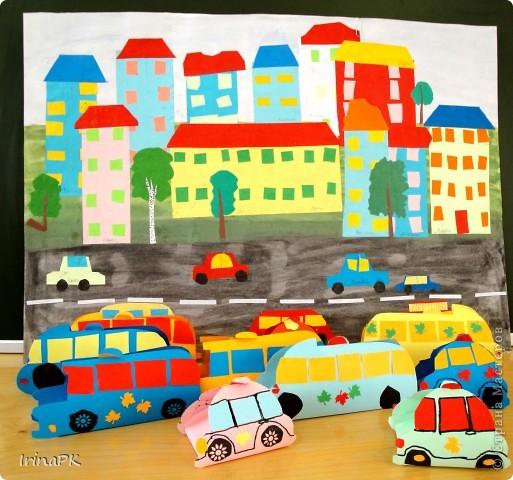 Такие автобусы и машинки собираемся делать с детьми. Их можно использовать как коробочки (положить что-нибудь внутрь), а можно просто играть, изучать правила дорожного движения. фото 9