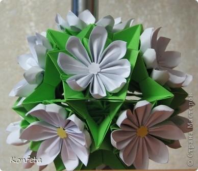 Кусудама Оригами Цветущая