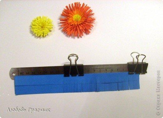 Сегодня училась резать бахрому для цветов. Собрала все идеи в кучу и решила, что для меня так удобнее. Оптимально 5 листов за раз, полоски могут быть разной ширины. Зажимы передвигать по мере надобности. Ножницы любые острые, линейка ограничивает разрез, поэтому режем серединой лезвия ножниц фото 4