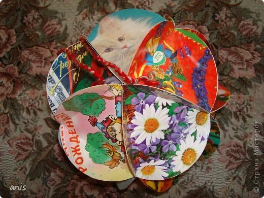 Новогодние шары из открыток своими руками