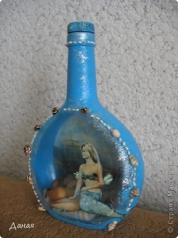 Идея декорирования этой бутылки возникла после того, как я случайно забрела на сайт, посвященный британской гравюре 18-19 веков... Сразу захотелось сотворить чего-нибудь в старинном  духе... фото 6