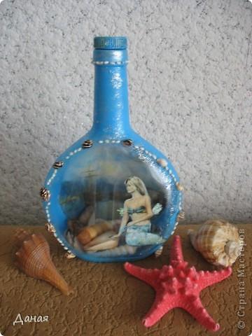 Идея декорирования этой бутылки возникла после того, как я случайно забрела на сайт, посвященный британской гравюре 18-19 веков... Сразу захотелось сотворить чего-нибудь в старинном  духе... фото 4