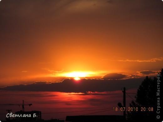 Жаркие дни- красивейшие закаты фото 1