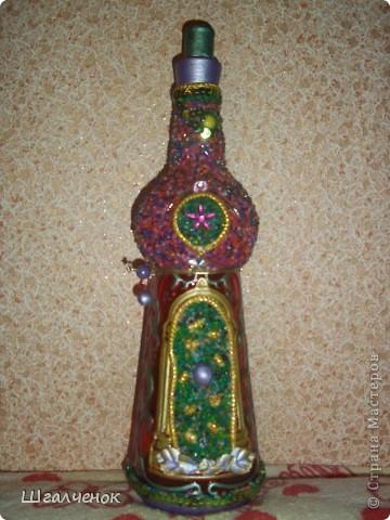 Бутылка украшенная бисером