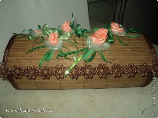 Поделка изделие Моделирование Шкатулки из бамбуковых салфеток Салфетки фото 1