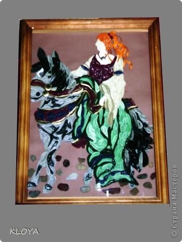 Картина панно рисунок Квиллинг