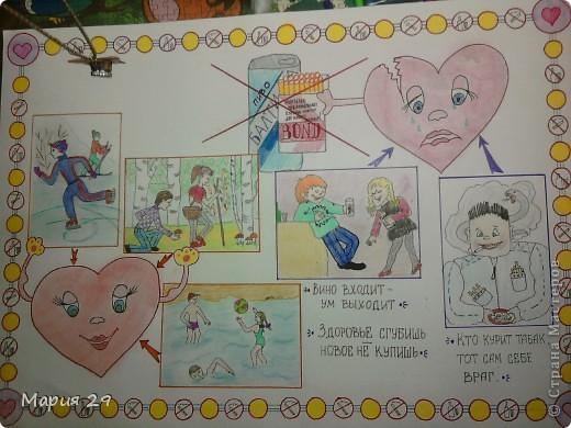 Рисование и живопись - Школьные плакаты о здоровье.
