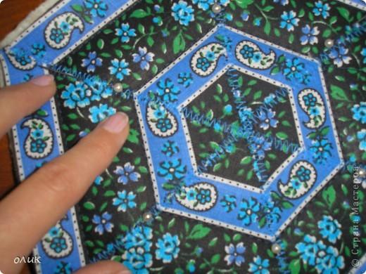 """Показываю для вас милые дамы м.к. как сшить разные прихватки из одной и той же ткани ткани методом лоскутного шитья """"калейдоскоп""""(прихватки получаются с разным орнаментом, но в одной цветовой гамме). фото 11"""