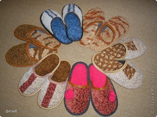 Тапочки для себя и для всей семьи, на любой вкус и цвет. Шьем легко и не принужденно. фото 1