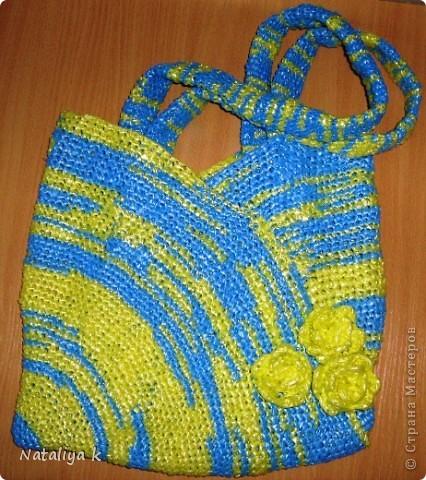 """Эту сумочку из """"полиэтиленовой пряжи"""" моя мама связала по этому МК   https://stranamasterov.ru/node/84004    Спасибо огромное Елене за вдохновение и МК !!!Из пакетов можно делать  пряжу,окрашенную сегментами."""