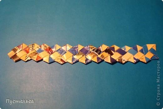 Мастер-класс Поделка изделие Украшение Плетение Сплетём ободок Бумага журнальная фото 19