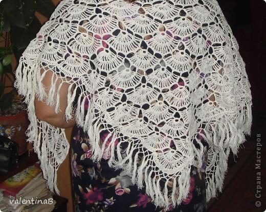 Схема вязания шали ракушка.