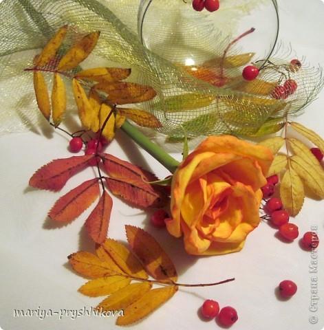 Флористика искусственная Лепка Осенний блюз Пластика фото 1