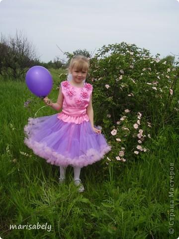 Это платье сшила дочке на выпускной в детский сад.  фото 1