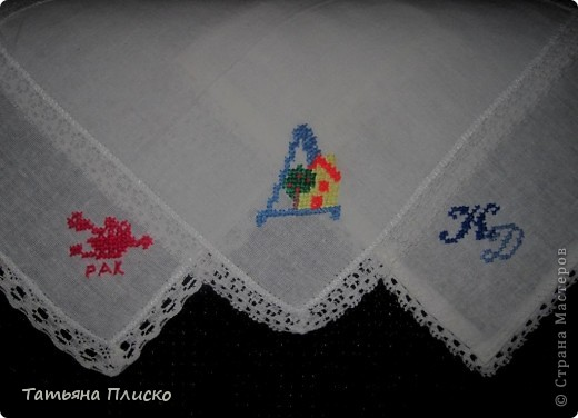 Вышивки на платках крестом