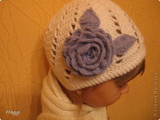 """Еще одна шапочка для моей средней доченьки. Связалаь оченьбыстро, так сказать """"на одном дыхании"""". фото 1"""