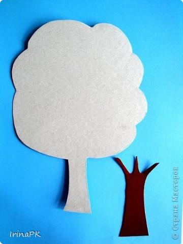 Как сделать аппликация дерева