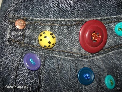 Сумочка для дочки из старых джинс + пуговки = вот что получилось фото 3