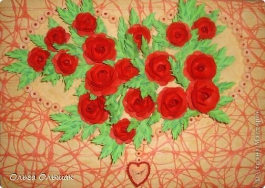 """Подарок на скорую руку сделала для Ирины Владимировны- классного руководителя старшей дочери. 8 октября у неё день рождения. Сопроводим мы его небольшим стишком. """"От чистого сердца Картину с цветами В честь дня рождения Дарю школьной маме!"""" фото 1"""