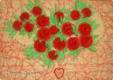 """Подарок на скорую руку сделала для Ирины Владимировны- классного руководителя старшей дочери. 8 октября у неё день рождения. Сопроводим мы его небольшим стишком. """"От чистого сердца Картину с цветами В честь дня рождения Дарю школьной маме!"""" фото 4"""