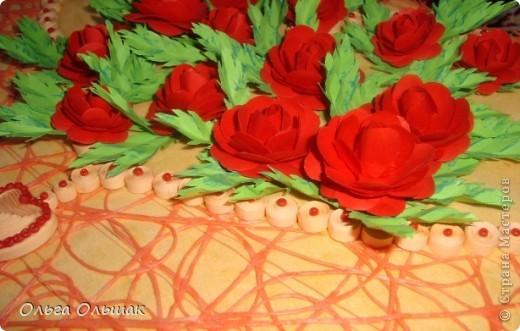 """Подарок на скорую руку сделала для Ирины Владимировны- классного руководителя старшей дочери. 8 октября у неё день рождения. Сопроводим мы его небольшим стишком. """"От чистого сердца Картину с цветами В честь дня рождения Дарю школьной маме!"""" фото 6"""