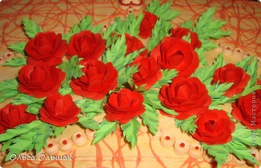 """Подарок на скорую руку сделала для Ирины Владимировны- классного руководителя старшей дочери. 8 октября у неё день рождения. Сопроводим мы его небольшим стишком. """"От чистого сердца Картину с цветами В честь дня рождения Дарю школьной маме!"""" фото 7"""