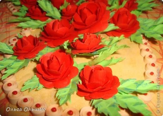 """Подарок на скорую руку сделала для Ирины Владимировны- классного руководителя старшей дочери. 8 октября у неё день рождения. Сопроводим мы его небольшим стишком. """"От чистого сердца Картину с цветами В честь дня рождения Дарю школьной маме!"""" фото 8"""