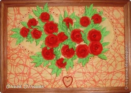 """Подарок на скорую руку сделала для Ирины Владимировны- классного руководителя старшей дочери. 8 октября у неё день рождения. Сопроводим мы его небольшим стишком. """"От чистого сердца Картину с цветами В честь дня рождения Дарю школьной маме!"""" фото 9"""