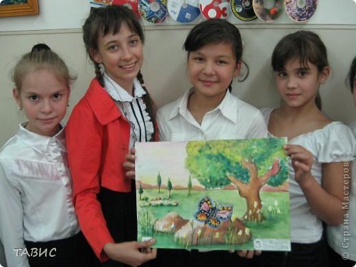 Каждый год в день Защиты животных в нашей школе проходит конкурс рисунков на асфальте. В этом году рисовали полезных насекомых и защищали свои рисунки. Это - эскиз моих учеников пятиклассников! фото 1