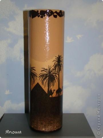ваза из икеи, салфетка, акриловые краски, яичная скорлупа, лак фото 1